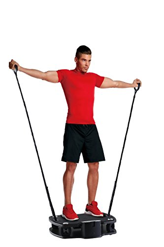 Body Coach Vibro Plate Premium Vibratietrainer Fitness 3D Shaper Board – trilplaat met riemen voor het hele lichaam trainen – stabiele plaat oscillerend tot 100 kg belastbaar