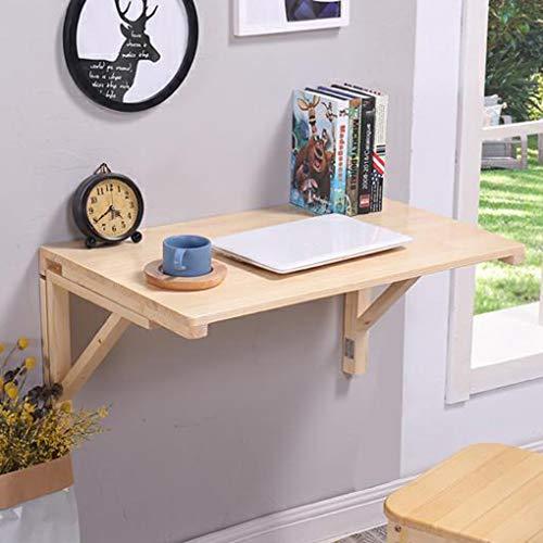 QL Klappbarer Esstisch aus massivem Holz zur Wandmontage, dreieckige Schreibtischhalterung für Laptop-Tisch, klappbarer Computertisch für das Büro zu Hause
