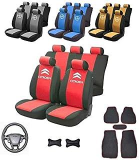 Lupex Shop 17239-01 Juego de Fundas para Asiento para Citroen C1 Color Negro y Rojo