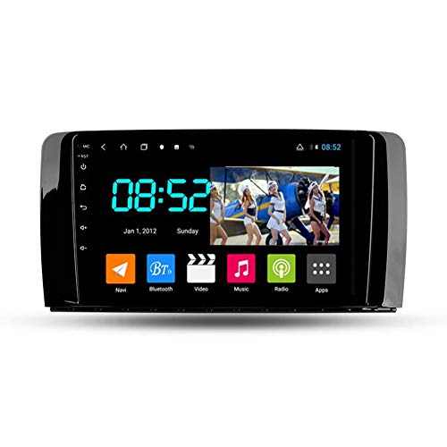 Foof Autoradio Bluetooth, 2 DIN Android Radio De Coche 9'' Pantalla Táctil WiFi Plug and Play Completo RCA Soporte Carautoplay/GPS/Dab+/OBDII para Benz Clase R 2005-2017,Octa Core,4G WiFi 6G+128G