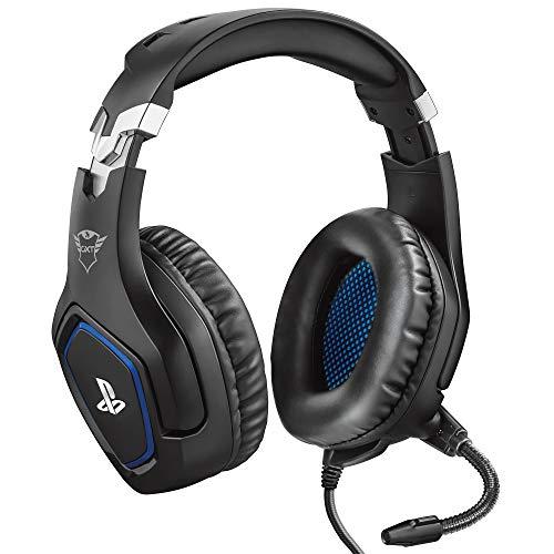 Trust GXT 488 Forze Cuffie Gaming con Licenza Ufficiale PlayStation 4, Microfono Ripiegabile e Archetto Regolabile, Nero
