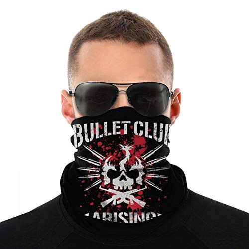 Bullet Club Neck Gaiter Face Mask Windproof Mask Dust Outdoor Balaclava Scarf Bandana White