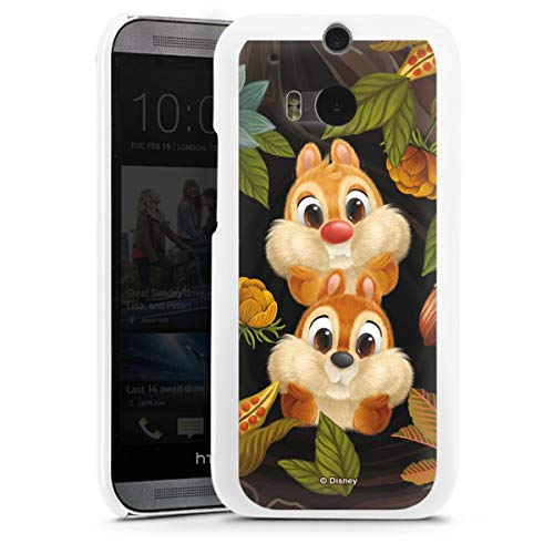 DeinDesign Hard Case kompatibel mit HTC One M8s Schutzhülle weiß Smartphone Backcover Disney Chip und Chap Offizielles Lizenzprodukt