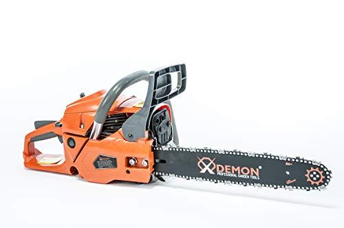 DEMON 4,35 PS Benzin Motorsäge Motorkettensäge Kettensäge Länge des Schwertes: 40cm