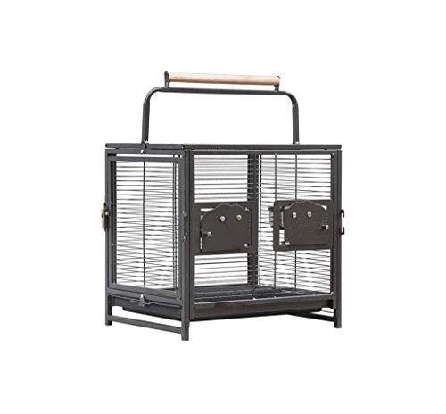 La casa degli Animali Domestici Portable di Viaggio Bird Cage, moderato corrosione della ruggine Resistenza Voliere di Trasporto Gabbia for Piccoli Animali Domestici 48 * 38 * 47.5cm Gabbia