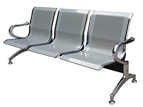 Sedia Panca d'attesa in metallo per ufficio 3 posti