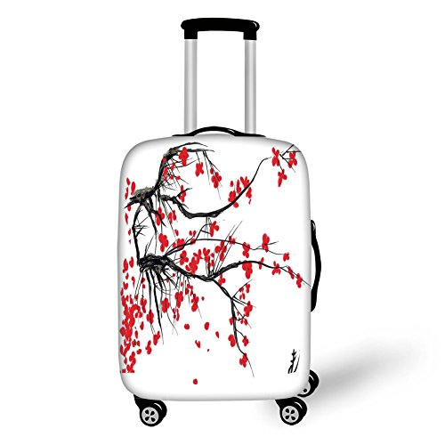 Travel Luggage Cover Suitcase Protector,with Horizontal Folk Bands...