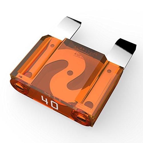 AUPROTEC Maxi Flachstecksicherung 20A - 80A Stecksicherung Schmelzsicherung Auswahl: 40A Ampere orange, 3 Stück