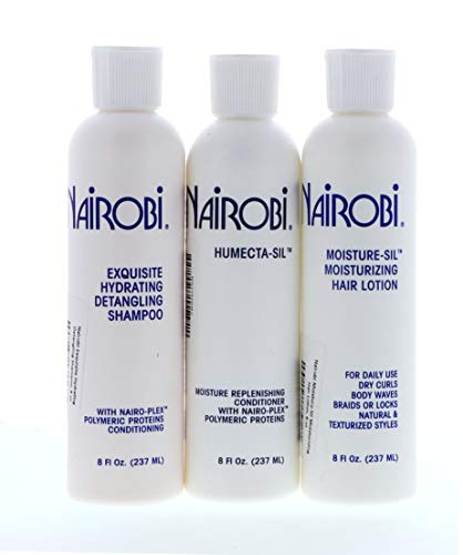 Nairobi Wrapp-It Shine Foam Wrap, Exquisite Hydrating Detangling Shampoo, Humecta-Sil Conditioner SET