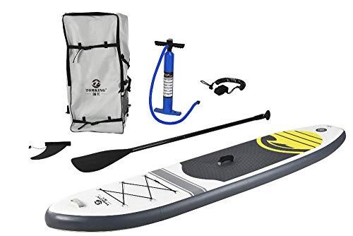 Kit Stand Up Paddle Pelegrin Pel-10ft Inflável Branca e Cinza