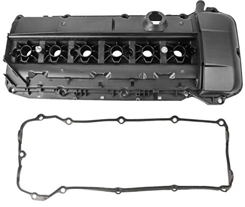 MOSTPLUS 11127512839 Engine Valve Cover Compatible with 02-06 BMW 330i 530i E46 E39 Z4 2.5L 3.0L