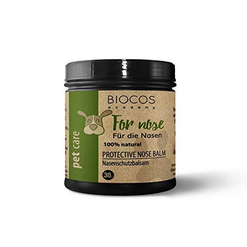 Bio Nasenbalsam Hund & Katzen - natürliche Nasen Pflege - natural Dog Nose Soother Balm - Hilfe für trockene Hundenasen - mit öko Bienenwachs, Kokosöl, Sanddornöl, Arganöl & Vitamin E