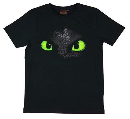 Dreamworks Dragons Kinder T-Shirt Ohnezahn Toothless (116-122, schwarz)