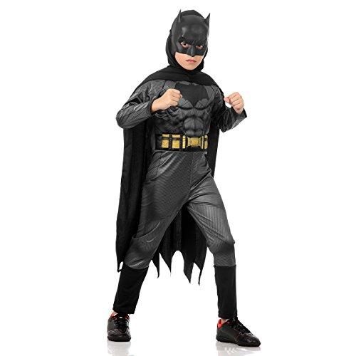 Fantasia Batman Luxo Infantil 920890-p Sulamericana Fantasias Cinza/preto P 3/4 Anos