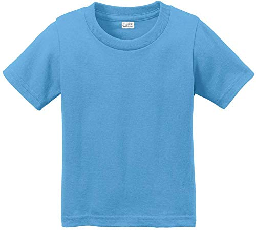 Infant Soft and Cozy Cotton T-Shirts-Aquatic Blue,size 18M