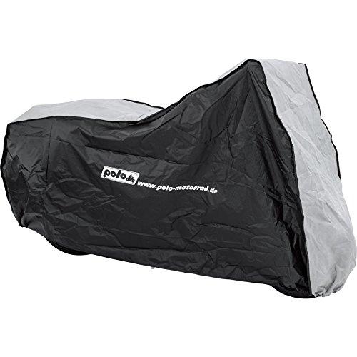 Polo Motorradabdeckung Motorradplane Motorradgarage Outdoor Abdeckplane IV atmungsa. Größe L = 270/145/75cm, Unisex, Multipurpose, Ganzjährig, PVC, schwarz