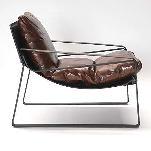 Phoenixarts Vintage Relaxsessel Echtleder Sessel Design Lounge Ledersessel Braun Clubsessel Sofa 457