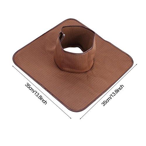 35x35 cm polyester wasbaar Beauty Salon Spa ligstoelen massage handdoek gat handdoek bruin