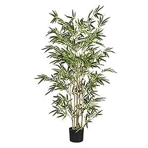 PIVFEDQX Artificial Tree Fake Trees Natural Bamboo Silk Tree,Green Artificial Tree,Fake Plant Artificial Bamboo for Garden Jungle Party Decor (Color : Green, Size : 130CM)