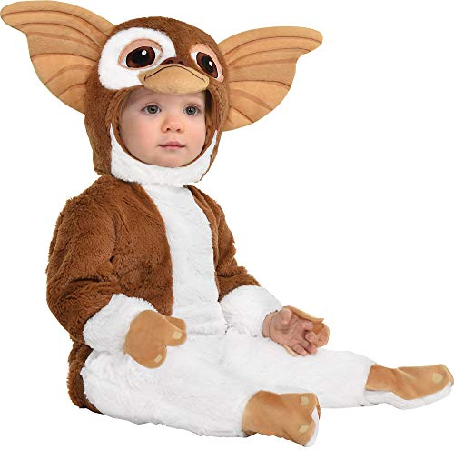 Party City Gizmo Halloween Costume for Babies, Gremlins Movie, 0-6 Months, Includes Jumpsuit and Headpiece
