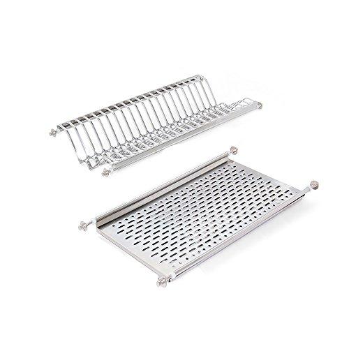 emuca afdruiprek hangstoel voor borden en glazen voor wastafel keuken roestvrij staal Möbel 60cm verchroomd