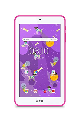 SPC Laika - Tablet android con pantalla de 7 pulgadas, memoria interna 8GB, RAM 1GB, WiFi y Bluetooth – Color Rosa