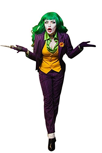 MIMIKRY Gauner Damen-Kostüm Jacket Weste Hose Bluse Batman Gotham, Größe:L