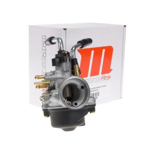Vergaser Motoforce Racing, 17,5mm manueller Choke für Minarelli liegend/stehend (HD:90, ND: 34, Nadel: A12)