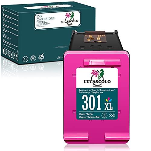 LUCASCOLO Cartuccia d'inchiostro rigenerata per HP 301XL 301 XL da usare con HP Deskjet 1000 2050 2510 2540 3000 3050 Envy 5530 4500 4507 5532 4502 5534 4504 Officejet 2620 2622 4630 4632 (1tricolore)