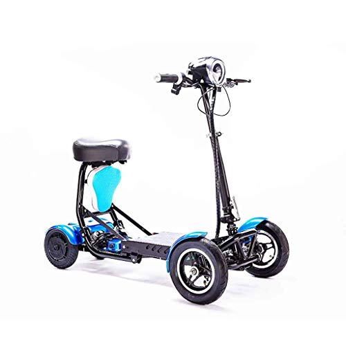 KILLM Mini Plegable eléctrica Scooter eléctrico para Adultos Litio portátil para minusválidos...