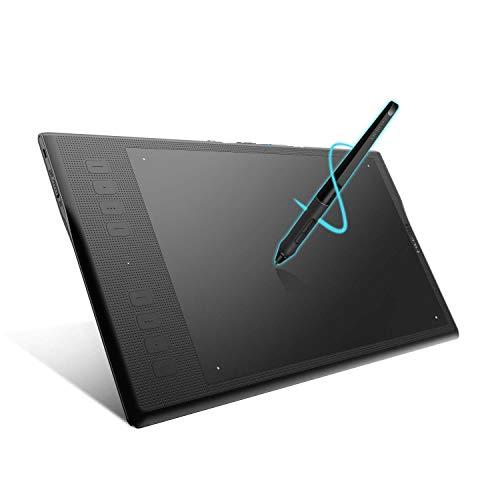 HUION INSPIROY Q11K V2 Drahtlose Grafiktablett Zeichnung Tilt-Funktion Unterstützung Batteriefreier Stift mit 8192 Stiftdruck 8 anpassbare Tasten und 18 Stiftspitzen