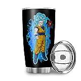 Generic - Tazza da viaggio con drago Saiya Goku, in acciaio INOX, isolata con coperchio, idea regalo per amici per bevande ghiacciate e bevande calde