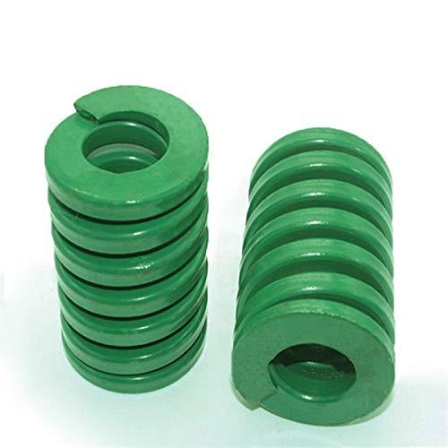 NO LOGO L-Yune, 2ST Frühling Heavy Load Coil Stamping Kompressions-Form Die Frühlings-Grün-Außendurchmesser 12 mm Innendurchmesser 6mm Länge 20-65mm (Größe : 12 x 6 x 30mm)