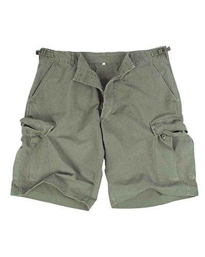 Mil-Tec US Bermuda R/S prewash Bermuda Shorts Hose Cargo Herrenhose kurze Capri Sommerhose verschiedene Ausführungen (XXL, Oliv)