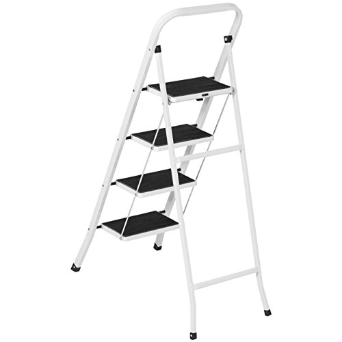 Best Choice Products Portable Folding 4-Step Ladder w/Hand Rail, 300lb Capacity