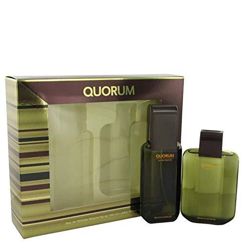 QUORUM by Antonio Puig Gift Set - 3.3 oz Eau De Toilette Spray + 3.3 oz After Shave / - (Men)