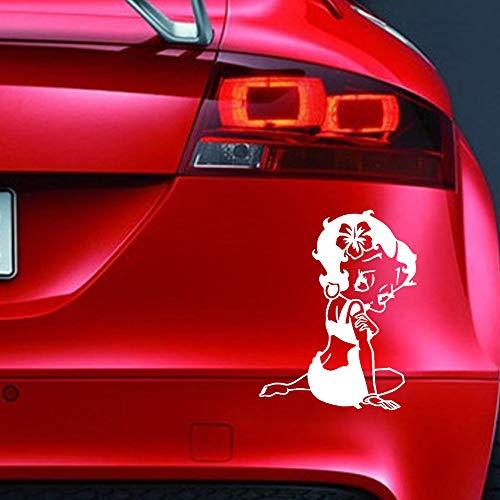 Pegatina de vinilo con diseño de Betty Boop para ventana de coche, diseño de dibujos animados JDM EURO para caravana, bicicleta, scooter, V3