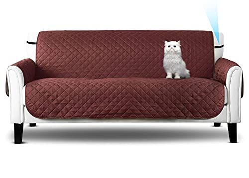 Funda de sofá, Sofa Cover, de 2 plazas, Protector marrón c