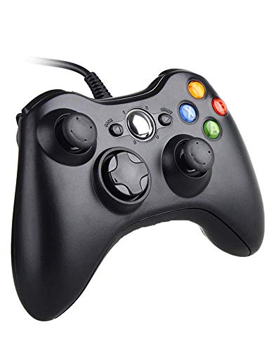 Xbox 360 Controller, 7.2 ft USB Wired Controller Gamepad Compatible with Microsoft Xbox 360 & PC Windows(Black)