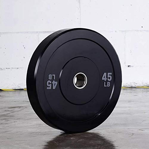 QYBAMZLD Barbell Weight Plate, Stainless Steel Barbell Weight Plate Bumper Plate 2 Inches-5 Usable Weight (10 To 45 Pounds) for Single Or Double Strength Training,25lb