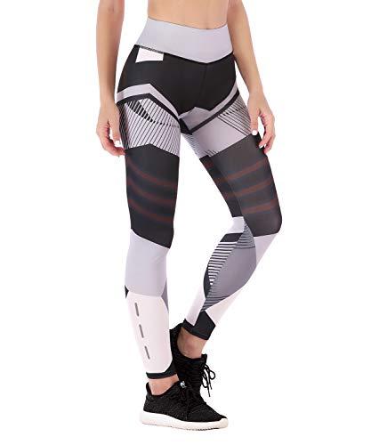 LaLaAreal Mallas Deportivas Mujer Leggins Yoga Pantalon Elastico Cintura Altura Polainas para Running Pilates Fitness (3, S) …