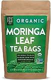 Organic Moringa Tea Bags | 100 Tea Bags | Eco-Conscious Tea Bags in Kraft Bag | Raw from India | by FGO
