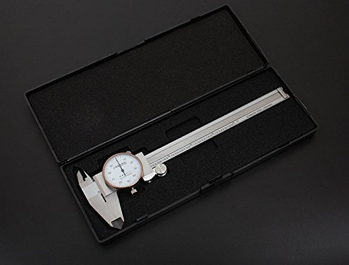 Accusize Industrial Tools 0-6 inch by 0.001 inch Precision Dial Caliper, Stainless Steel, in Fitted Box, P920-S216
