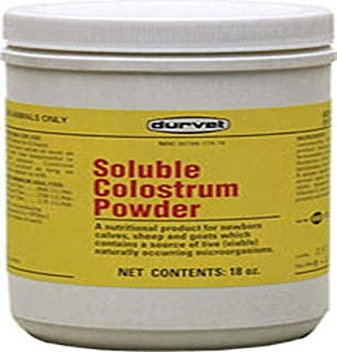 Durvet Soluble Colostrum Powder, 18 Ounce Container