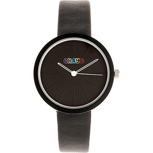 Crayo Blade Armbanduhr, Kunstleder schwarz