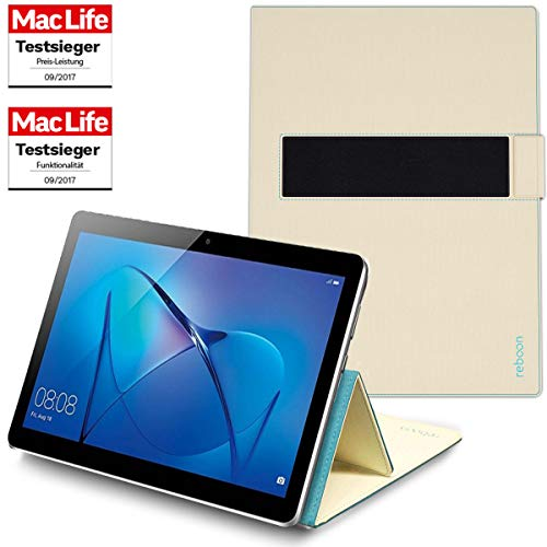 reboon Hülle für Huawei MediaPad M3 Lite 10 Tasche Cover Case Bumper | in Beige | Testsieger