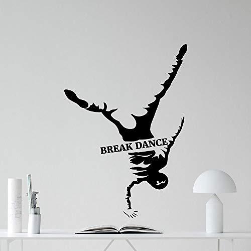 SLQUIET Break Dance Wall Decal Boy Room Modern Rap Hip Hop Dance Vinyl Sticker Wallpaper Art Family Room Decoration Mural Bedroom Home Decor 13 azul medio 42X59 CM