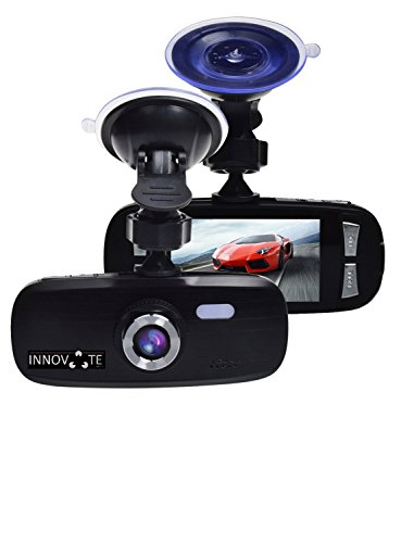 "Innovative G1W Dash Cam Black Box - Full HD 1080P H.264 2.7"" LCD Car DVR Camera Video Recorder with G-Sensor Night Vision Motion Detection WDR 120° Like 140° Wide Angle 4X Zoom - NT96650 + AR0330"