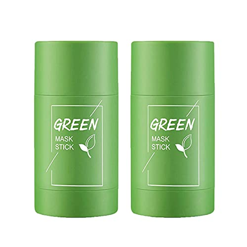 Poreless Deep Cleanse Mask Stick, Facial Deep Clean Pore Smearing Clay Stick Mask, Green Tea Purifying Clay Stick Masks Removing Blackhead, Face Moisturizes Oil Control, Improves Skin for Men (3pcs)
