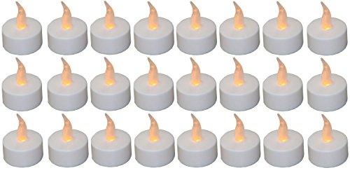 BUSDUGA 899804 Lot de 24 bougies chauffe-plat LED avec piles